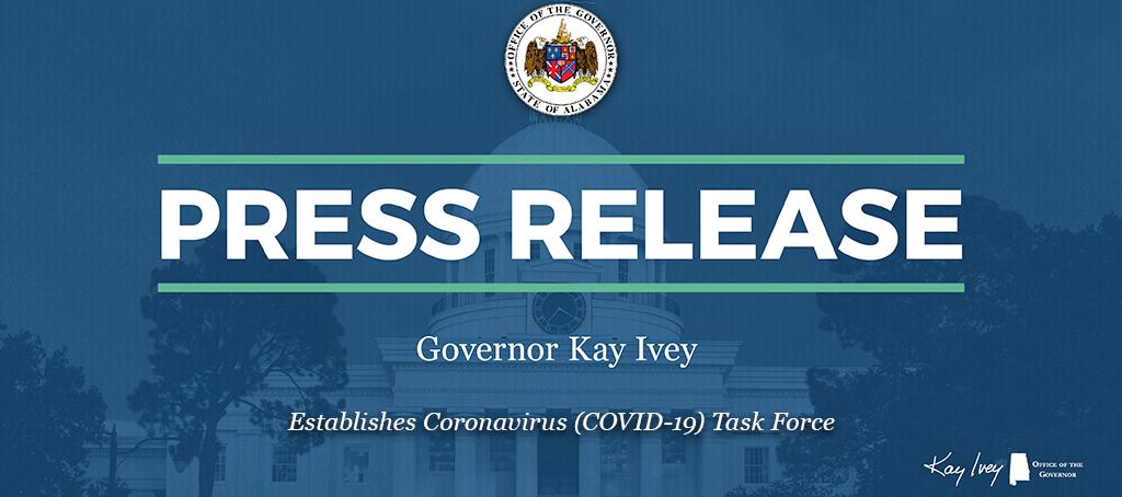 Governor Ivey Establishes Coronavirus (COVID-19) Task Force
